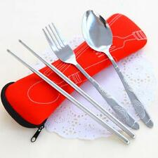Picnic Travel Cutlery Set Camping Fork Stainless Steel Spoon Chopstick