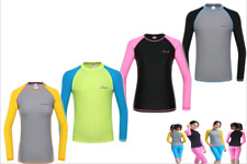 Ladies Surf Beach Rash Guards Long Sleeve Swim Shirt Sun Protection