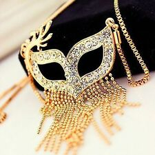 Party She-Devil Sparkling Masks Tassel Long Necklace Sweater Chain New