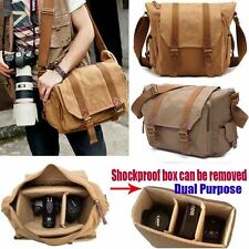 Canvas Vintage Shoulder Messenger DSLR Digtal Camera Bag for Canon Nikon Sony US