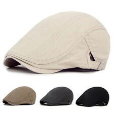 Korean Style Men Ivy Hat Cotton Cap Golf Driving Flat Cabbie Newsboy Beret Hat