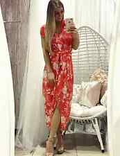 BNWT Ladies Womens Summer red orange white floral maxi dress by Ebby and I