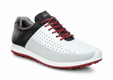 New ECCO Mens Biom Hybrid 2 HM Golf Shoes - White/Concrete/Black(151524-59394)