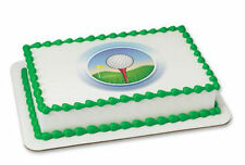 Golf Ball Tee edible image cake topper frosting sheet personalized #20244