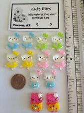 Flatback Resin Hello Kitty Face Stud Earrings - Free Shipping - Various Colors