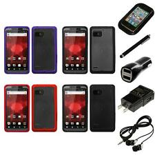 For Motorola Droid Bionic XT875 TPU Hard Case Skin Phone Cover Headphones