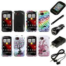 For HTC Rezound Design Snap-On Hard Case Phone Cover Headphones