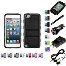 For Apple iPod Touch 5th 6th Gen TPU Hard Case Skin Phone Cover Headphones