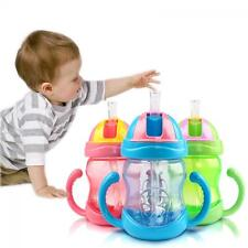 Baby Handle Infant Sippy Cup Bottle Learn Drinking Straw