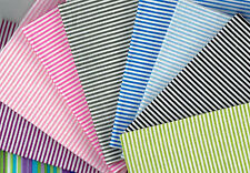 Fat Quarter ~ Stripe design 100% Cotton Fabric Quilting Patchwork Crafts
