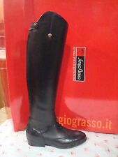 NEW SERGIO GRASSO YOUNG FIELD BOOTS TALL BLACK LEATHER 40/41 (US 10/11) MS 48/34