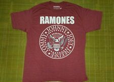 Ramones Presidential Tommy, Johnny, Joey, Deedee Maroon Adult Men's TShirt  LRG
