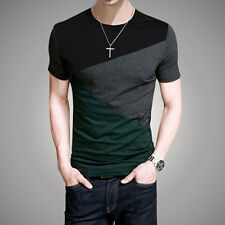 Summer Shirts Men's Fashion Luxury T-Shirt Short Sleeve Casual Slim Fit Tee Tops