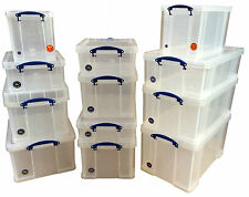 Extra Large Multi-Pack Really Useful Box - Clear Strong Plastic Lidded Storage!