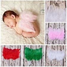 Newborn Infant Photo Props Lace Baby Costume Feather Angel Wings