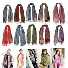 Winter Womens SCARVES Cashmere Wrap Scarf Shawl Floral Pashmina Large Stole