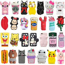Cute Hot 3D Cartoon Animals Soft Silicone Phone Case Cover Back Skin For iPhone