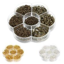 1 Box Mixed Size Iron Plated Open Jump Rings Jewelry Making Link Loop Findings