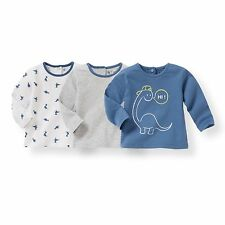 Baby Boys Pack Of 3 Long-Sleeved T-Shirts, 1 Month-3 Years