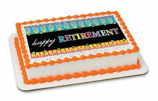 Happy Retirement edible image cake topper frosting sheet personalized #20149