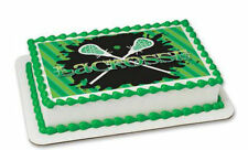 Lacrosse edible image cake topper frosting sheet personalized #20236