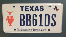 TEXAS BB61DS UNIVERSITY OF TEXAS AT AUSTIN LONGHORNS SPECIALTY LICENSE PLATE