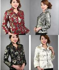 CH 4 colors Chinese Women's silk jacket /coat Cheongsam Sz: M L XL 2XL 3XL