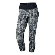 NIKE DRI-FIT WOMENS POWER  RUNNING CROPS BLACK #821777-NWT