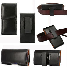 Glossy Leather Waist Hang Case Cover Belt Holster Clip Pouch Sleeve For Samsung