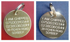 ENGRAVED PET TAGS CAT TAG DOG DISC KITTEN PUPPY QUALITY FREE POSTAGE