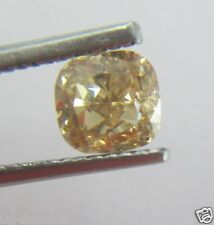 1.01Cts Natural Untreated Cushion Shape Fancy Yellowish Orange Color Diamond