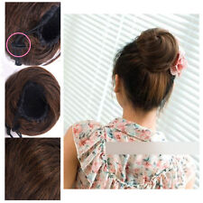 Stylish Pony Tail Women Clip in/on Hair Bun Hairpiece Extension Scrunchie FB