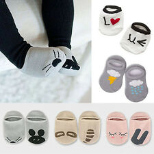 Cute Baby Newborn Infant Floor Sock Boys Girls Kids Rabbit Bear Cotton Socks DS
