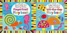 NEW Usborne Baby's Very First Touchy Feely Lift The Flap & Fingertrail Playbooks