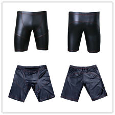 New Men Boys Sexy Fashion Faux Leather Shorts Hot Pants Tights for Gym Fitness