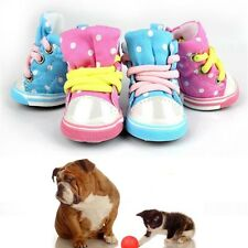 Pet Dog Cat Puppy Kitten Canvas Boots Sports Shoes Booties Puppy Dot Sneakers