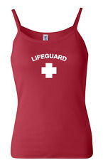 Ladies Life Guard Spaghetti Strap Tank Top