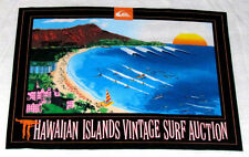 New Hawaiian Islands Vintage Surfboard Surfing Surf Auction White XL 2XL T Shirt