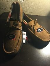 New Mens Campus Footnotes Georgia Bulldogs Slippers - Chestnut