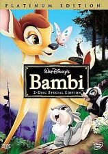 Bambi (DVD, 2005, 2-Disc Set, Special Edition/Platinum Edition)  NEW~!!! nsc