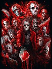 Jason Voorhees Friday the 13th - Art Poster Print - Horror movies slasher Jason