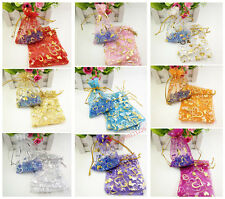 9x12cm Premium ORGANZA Wedding Favour Gift bags Jewellery Candy Pouches50/100pcs