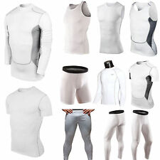 Mens Compression Base Layer Tights Gym Vest Shirt Top Pant Sports Yoga Training