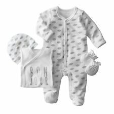 Babys Boys And Girls 4-Piece Newborn Set (Bodysuit, Sleepsuit, Hat And Mitts)