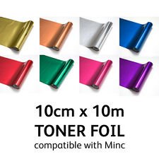 TONER FOIL for Laser Printer Laminator Minc Machine Heat Transfer 10cm x 10m