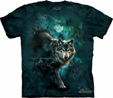 Wolf Wolf Pack Wolves Moon Night T Shirt The Mountain ANIMAL NATURE Tee S-5XL