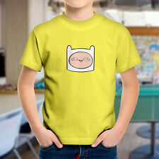 Adventure Time Derpy Derp Silly Funny Finn Face Face Kids Boys Youth Tee T-Shirt