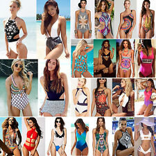Womens One Piece Monokini Bikinis Brazilian Push-up Swimsuit Swimwear Tankini