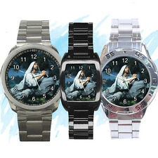NEW Wrist Watch Stainless Sport Barrel Analogue Praying Jesus Christ Gethsemane