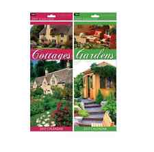2017 Slim Month to View Cottages or Gardens Design wall Calendar